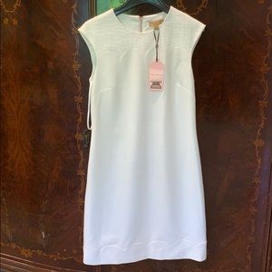 Ted Baker white dress with tweed detail